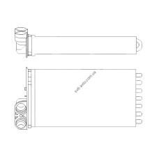 Радиатор печки Citroen C3 (FPS)