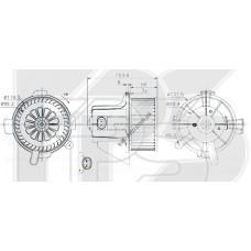 Вентилятор салона Citroen C4 I, Peugeot 307 - 6441S6 (FPS)
