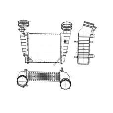 Интеркулер для Audi / Skoda / Seat / VW (NRF) FP 64 T55