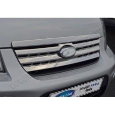 Ford Torneo Connect (2009-) Накладки на решетку радиатора (нерж.) 2 шт.