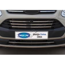 Ford Transit Custom (2012-) Накладки на решетку радиатора 5шт