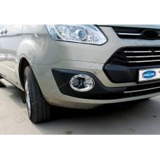 Ford Transit Custom (2012-) Окантовка противотуманок (Abs хром) 2шт