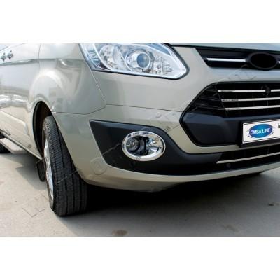 Ford Transit Custom (2012-) Окантовка противотуманок (Abs хром) 2шт - 2624103