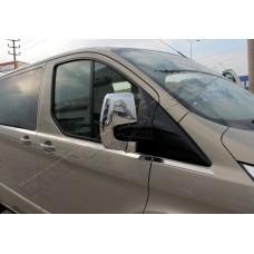 Ford Transit Custom (2012-) Накладки на зеркала (Abs-хром.) 2шт
