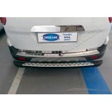 Ford Courier (2014-) Накладка на задний бампер