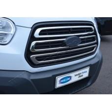 Ford Transit (2014-) Накладки на решетку радиатора 3шт