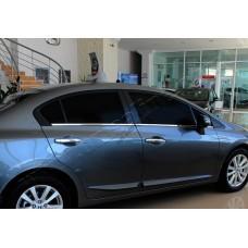 Honda Civic Sedan (2012-) Молдинги стекол нижние 6шт