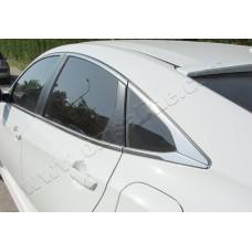 Honda Civic Sedan (2016-) Окантовка стекол полная 8шт