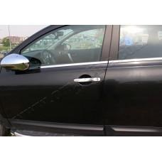 Nissan Qashqai (2007-2014) Молдинги стекол нижние 4шт