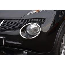 Nissan Juke (2010-) Окантовка на передние фонари 2шт