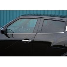 Nissan Juke (2010-) Молдинги стекол нижние 4шт