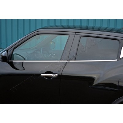 Nissan Juke (2010-) Молдинги стекол нижние 4шт - 5008141