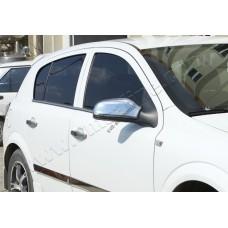 Opel Astra H (2004-2009) Накладки на зеркала (Abs-хром.) 2шт