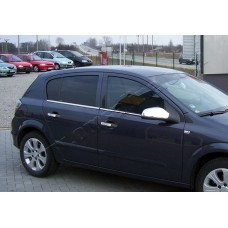 Opel Astra H (2004-2009) Молдинги стекол нижние 4шт