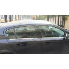 Opel Astra H Sedan (2009-2013) Молдинги стекол нижние 4шт