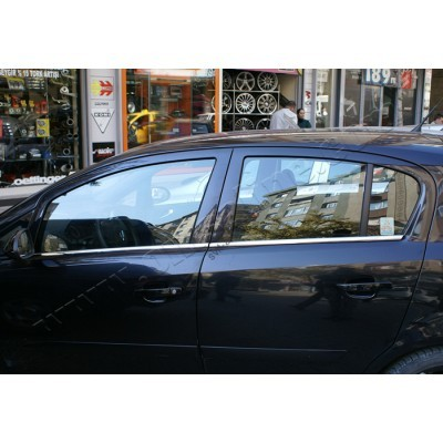 Opel Corsa D 5D (2006-) Молдинги стекол нижние 4шт - 5213141