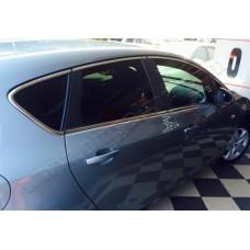 Opel Astra J 5D (2010-) Молдинги стекол нижние 8шт