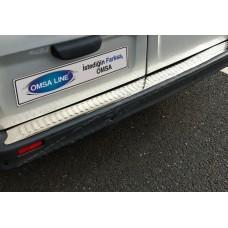 Opel Vivaro/Renault Trafic (2001-2014) Накладка на задний бампер - Матированный