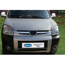 Peugeot Partner (2003-2008) Накладки на решетку радиатора 2шт