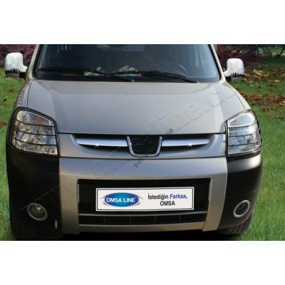 Peugeot Partner (2003-2008) Накладки на решетку радиатора 2шт - 5705081
