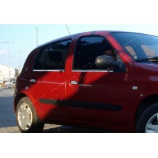 Renault Clio II 5D (1999-2006) Молдинги стекол нижние 4шт