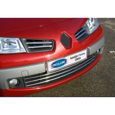 Renault Megane 5D/Sedan/SW (2004-2006) Накладки на решетку радиатора 6шт - 6103081