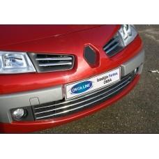 Renault Megane 5D/3D/Sedan/SW (2006-2010) Накладки на решетку радиатора 4шт