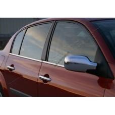 Renault Megane 5D/3D/Sedan/SW/COUPE (2004-2010) Накладки на зеркала (Abs-хром.) 2шт