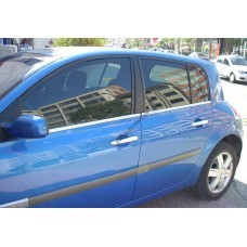 Renault Megane 5D (2004-2010) Молдинги стекол нижние 4шт