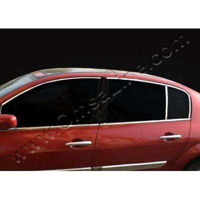 Renault Megane Sedan (2002-2009) Верхняя окантовка стекол 6шт - 6103146