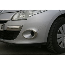 Renault Megane 5D/SW (2010-2012) Окантовка противотуманок 2шт