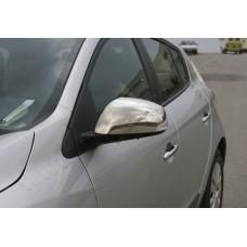 Renault Megane 5D/3D/SW/Fluence (2010-) Накладки на зеркала 2шт