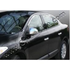 Renault Fluence (2010-) Верхние молдинги стекол 4шт
