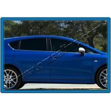 Seat Leon 5D (2005-2012) Молдинги стекол нижние 8шт