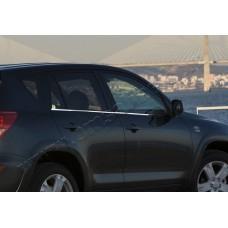 Toyota RAV4 (2006-2012) Молдинги стекол нижние 4шт