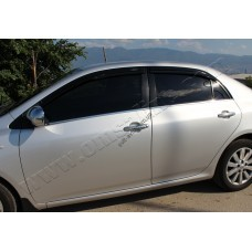 Toyota Corolla Sedan (2007-2012) Молдинги стекол нижние 4шт