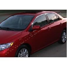Toyota Corolla Sedan (2007-2012) Верхние молдинги стекол 6шт