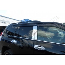 Toyota Land Cruiser Prado 150/GX460 (2009-) Молдинги стекол нижние 6шт