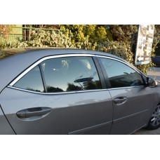 Toyota Corolla (2013-) Окантовка стекол верхняя 4шт