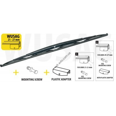 Щетка стеклоочистеля (дворник) для грузовиков и автобусов 800 mm - WUSAG800