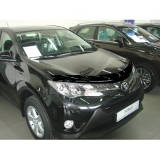 Дефлектор капота (мухобойка) Toyota Rav4 2013- (с подгибом)
