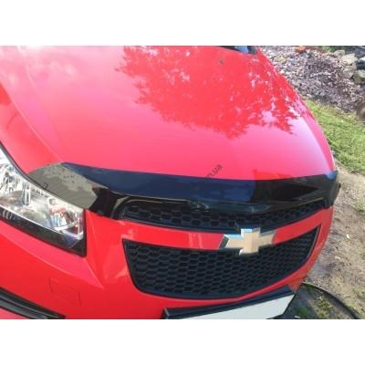 Дефлектор капота (мухобойка) Chevrolet CRUZE 09- - SCHCRU0912