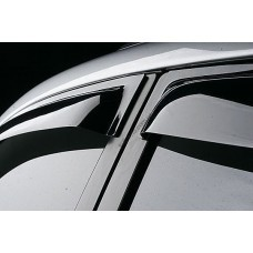 Дефлекторы окон (ветровики) KIA Rio 12-, хетчбек, 4ч,  темный