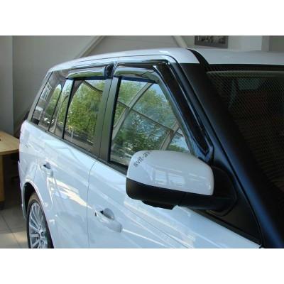 Дефлекторы окон (ветровики) LAND ROVER Range Rover 02-12, 4ч, темный - SLRRR0232