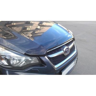Дефлектор капота (мухобойка) Subaru Impreza 2011-/ XV 2012-, темный - SSUIMP1112