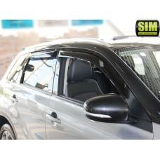 Дефлекторы окон (ветровики) Suzuki Vitara 15-, 4 дв. темный