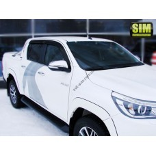 Дефлекторы окон (ветровики) TOYOTA Hilux Double Cab 2015-