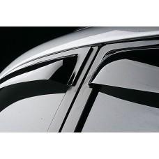 Дефлекторы окон (ветровики) TOYOTA LAND CRUISER PRADO 120/Lexus GX470, 4ч. темный