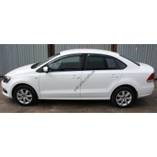 Дефлекторы окон (ветровики) Volkswagen POLO sd V 2010-