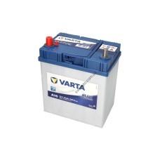 Акумулятор VARTA 40Ah/330А BLUE DYNAMIC (L+ Тонкі клеми (Японські транспортні засоби)) 187x127x227 B00 - без монтажного фланця (Пусковий)